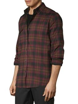 George Men's Premium Outdoor Long Sleeve Stretch Plaid Fla