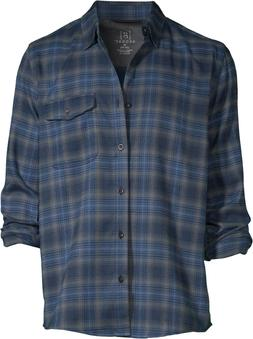 George Mens Premium Outdoor Long Sleeve Stretch Plaid Flanne