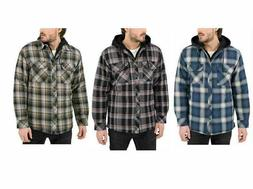 Boston Traders Men's Quilted Lining Flannel Shirt Jacket H