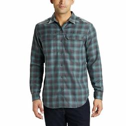 Columbia mens Silver Ridge 2.0 Blue Plaid Flannel Shirt size