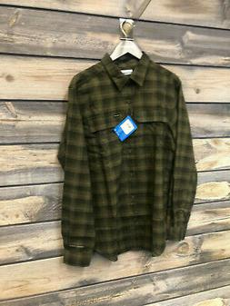 Mens Columbia Silver Ridge 2.0 Flannel color Olive Green siz