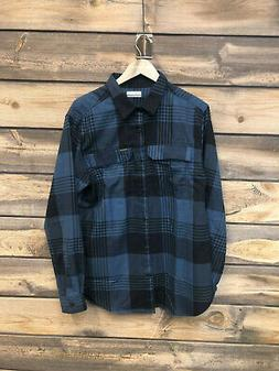 Mens Columbia Silver RIdge 2.0 Flannel Shirt color scout blu
