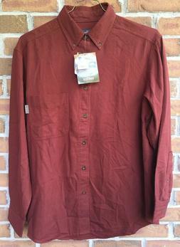 WOOLRICH Mens Size Medium Rust Red Long Sleeve Button Down F
