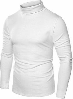 COOFANDY Mens Slim Fit Basic Thermal Turtleneck T Shirts Cas