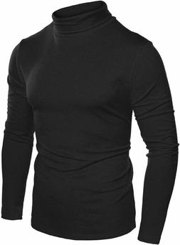 COOFANDY Mens Slim Fit Basic Thermal Turtleneck T Shirts Cas