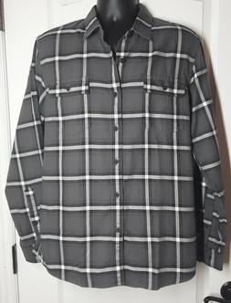 Goodthreads Men's Slim-Fit Long-Sleeve Plaid Twill Shirt G