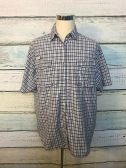 Columbia PFG Men's  SS Mesh-Vented Shirt XL UPF Flannel