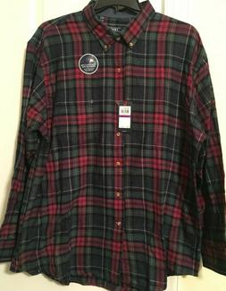 mens izod stratton flannel shirt XXL nwt $55 midnight blue p