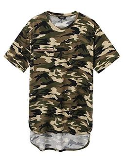 COOFANDY Mens Summer Hipster Hip Hop Camo-Camouflage T Shirt