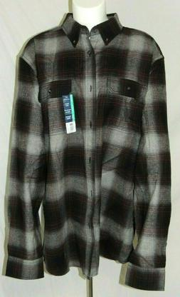 Mens Super Soft FLANNEL Button Up Long Sleeve Plaid Shirt Si