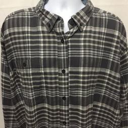 Woolrich Mens Trout Run Long Sleeve Plaid Flannel Shirt Sz X