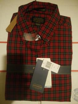 mens wool flannel shirt large red plaid