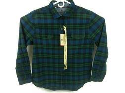 Woolrich Mens XL Long Sleeve Button Front Flannel Shirt Blue
