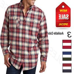 Backpacker Mens Yarn Dyed 100% Cotton Brushed Flannel Long S