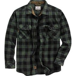 Legendary Whitetails Men's Navigator Fleece Button Up Forest