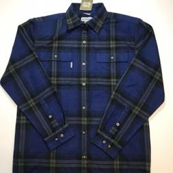 NEW! Carhartt Blue Plaid Heavy Flannel Shirt Medium Original