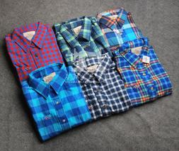 New Hollister by Abercrombie Men Flannel Plaid Shirts Muscle