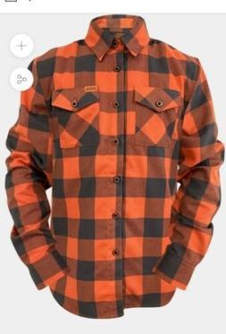New Dixxon Flannel knuck orange 4XL Sold Out Harley rockabil
