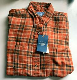 NEW G.H. BASS & CO. Men's  Button-Up Long Sleeve Flannel Shi