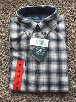 New G H Bass Flannel Shirt Men's Plaid M Medium