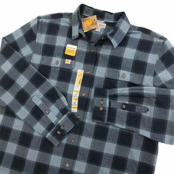 NEW Carhartt Hubbard Heavy Flannel Long Sleeve Shirt Men's S