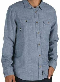 New Vans Lawler Flannel Sport Shirt Dress Blue Classic Fit M