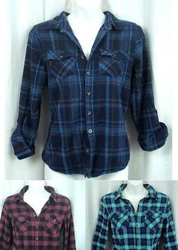 NEW Long Sleeve/3/4 Sleeve Soft Warm Cotton Flannel Shirts-