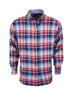 New Izod- Long Sleeve Flannel Real Red Large
