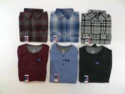 NEW! Lot: 3 George Flannel AND 3 Matching Thermal Henley Shi