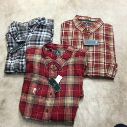 NEW lot of 3 mens G.H. BASS button up shirts madawaska fires