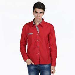 New male casual placket <font><b>matching</b></font> large s