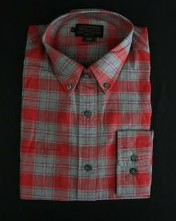 NEW Pendleton Men's Cotton Flannel Shirt Button-up Red/Gray