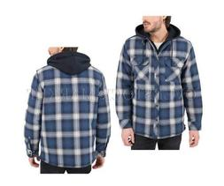 NEW! MEN'S BOSTON TRADERS HOODED FLANNEL SHIRT/JACKET! QUILT