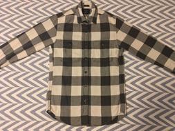 NEW Men's J.Crew Slim Plaid Flannel Shirt, Gray Check, Size