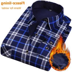 new men s long sleeve plaid warm