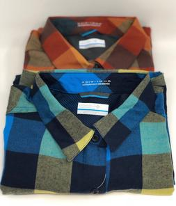 04536622c7e New Columbia Mens Kestrel Trail Flannel Long Sleeve Plaid Sh