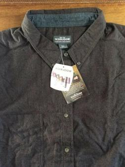 NEW Woolrich Mens L/S Brown Button Down Cotton Flannel Shirt