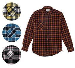 American Apparel NEW Mens Plaid Flannel Lumberjack Classic F