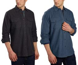 new mountain mens flannel chamois button up