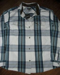 NEW NWT Eddie Bauer Flannel Shirt Chopper Workshirt LT Harbo