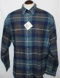 NEW Columbia Pinchot Plaid Flannel LS Men's Shirt Top sz XL