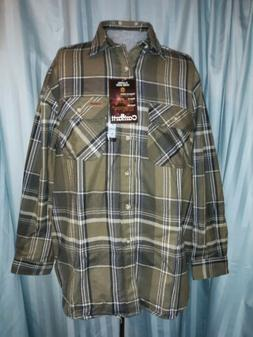 New Plaid Carhartt Flannel Work Shirt Large Thick Material N