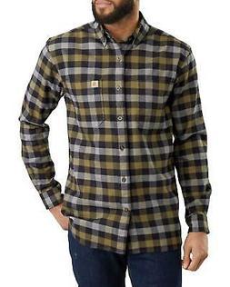 New Carhartt Rugged Flex Flannel Long Sleeve Shirt, Black