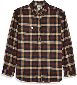 New Carhartt Rugged Flex Hamilton Flannel Shirt, Dark Khaki