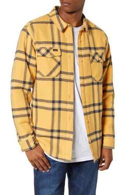 NEW RVCA S Small Yield Plaid Button Up Flannel Collared Long