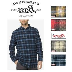 NEW! SALE! G.H. Bass & Co. Mens Flannel Button Up Shirt- VAR