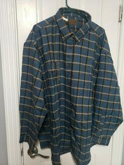 NEW St. John's Bay Men's Flannel Shirt Size 3XL Soft Cotton
