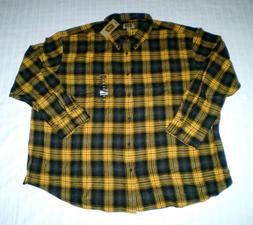 NEW The Foundry Supply Flannel Shirt Mens 4XL Big &Tall Yell