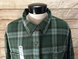 New Duluth Trading Flannel Shirt Men's 4XL Free Swingin Gree