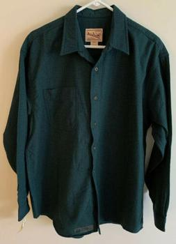 New Vintage Woolrich Flannel Women's Size L Blue/Green Butto
